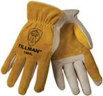 Tillman Grain Cowhide Drivers Gloves - Medium