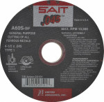 "4-1/2x.045x7/8"" Type 1 A60S Metal Cut-Off Wheel - Sait"