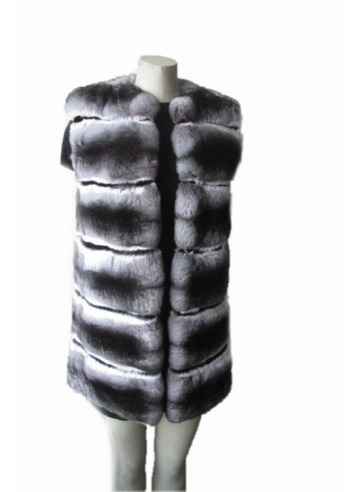 New Genuine Chinchilla Fur Vest