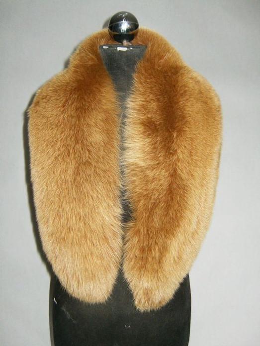 Whiskey Fox Fur Collar  Women's