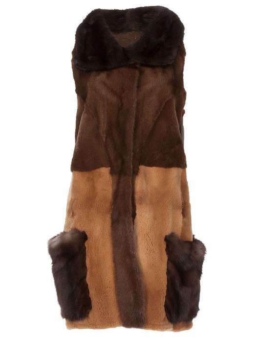 Multicolor Mink & Ashtrakhan Fur Vest