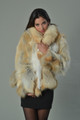 Golden Fox Fur Coat