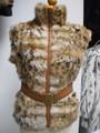 Lynx Cat Fur Leather  Belt Vest