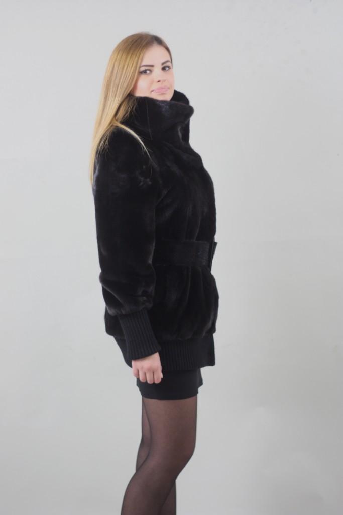 blackglama mink fur jacket side view