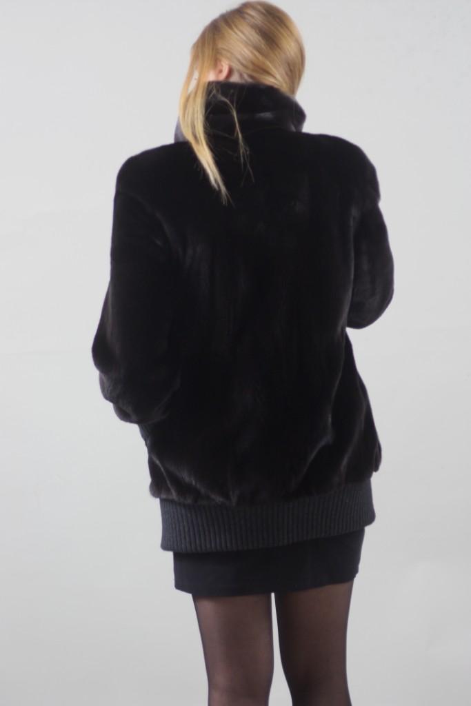 blackglama mink fur jacket rear view