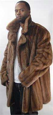 male mink fur coat