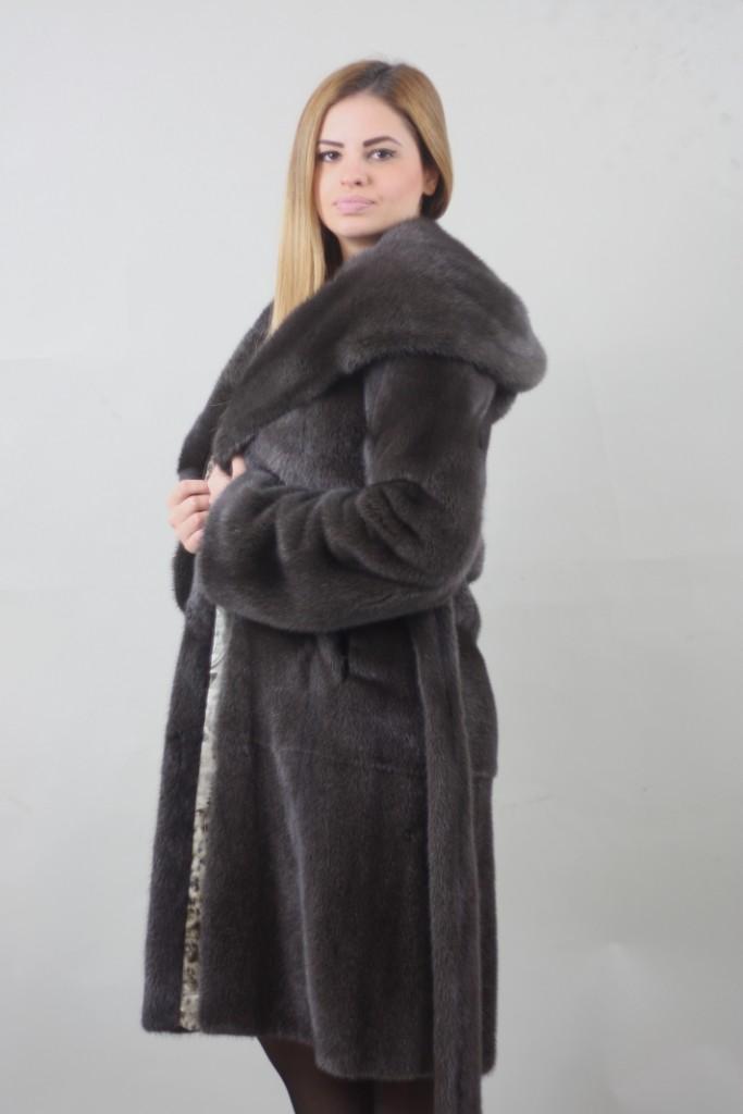 burguzinsky mink fur stroller hood off turns into collar