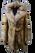 brown sheared beaver fur coat fox hood and belt