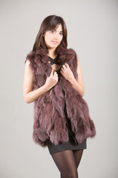 Purple Fox Fur Vest