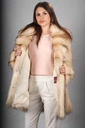 Beige Raccoon Fur Coat