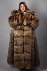 Fin Racoon Full Length Fur Coat
