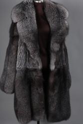 Blue Frost Fox  Mens Fox Fur Coat