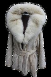 Pearl Beaver Fur Coat Cobra Hood