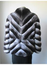 Chinchilla fur coat X-style