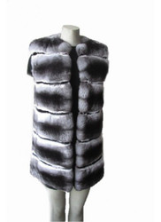 New Genuine Chinchilla Fur Vest