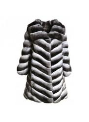 New Luxury Genuine Chinchilla Fur Jacket