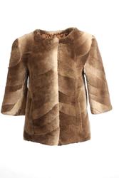 Brand New Waistiline Chinchilla Fur Jacket