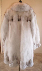 Blue Fox Fur Coat Xs to XXXL