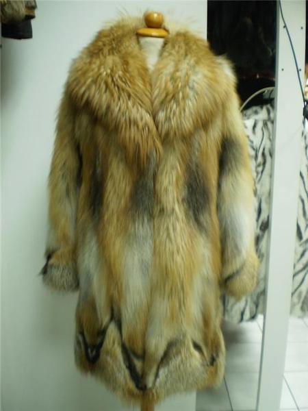 Fox Fur Coat Red size Xs to XXXL