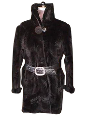 Black Sheared Beaver Fur Coat 3/4 Xs to XXXL