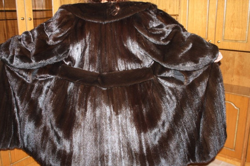 Saga Mink Fur Coat Full Length Mahogany