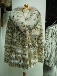 Lynx Montana Fur Coat Fox Collar