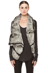 Lang Inspired Flux Fur and Leather Vest