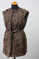 BeigeSwakara Lamb Fur Vest Mid Hip