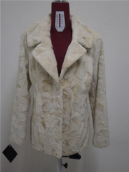 Cream Mink Fur Jacket Sheared