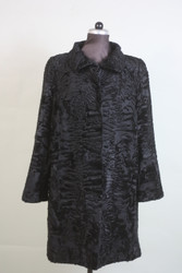 black swakara lamb fur coat