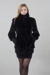 Blacklama Mink fur coat Full Skin