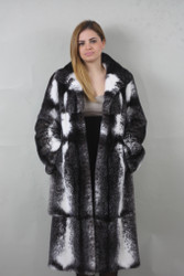 Blackcross Mink fur coat Full Skin