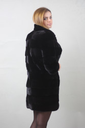 Blacklama Mink fur coat  knee length
