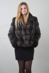 Luxury gift  Burgunzinski Mink fur coat Full Skin