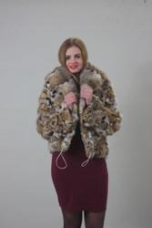 Lynx fur jacket / Hooded