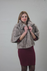 Luxury gift/Saphire Mink paws fur jacket/fur coat /Wedding,or anniversary present