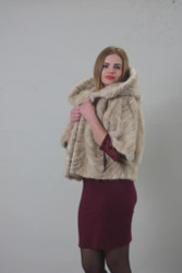 Luxury gift/Pastel Mink paws fur jacket/fur coat /Wedding,or anniversary present