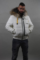 Luxury gift/ Grey fox double face/White/Mens Parka fur / Wedding,or anniversary present
