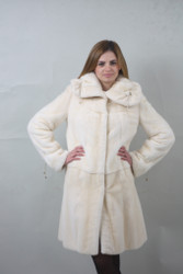 Pearl Mink fur coat Full Skin /knee length