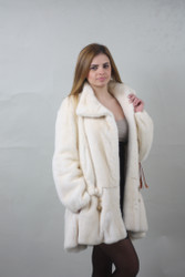 Pearl Mink fur coat Full Skin Prada style