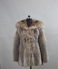 Luxury/Fur coat Lynx/Hooded