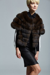 Short Sable fur jacket women real full skin MEXA