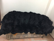 Black fox feet fur blanket/throw/luxury