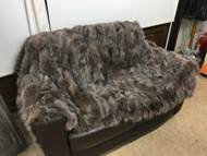 Light belly brown fox fur blanket/throw