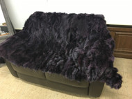 Purple fox fur blanket/throw