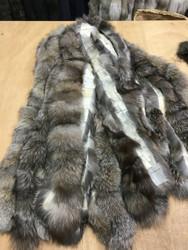 Blue frost Fox fur Trim