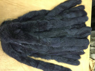 Navy blue fox fur Trim
