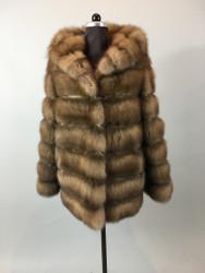 Sable Fur Coat  Hooded MEXA Pelmantzel
