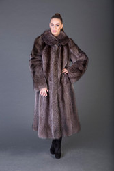 Racoon fur  Coat 4/5 Length