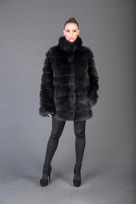 Black Racoon fur Coat